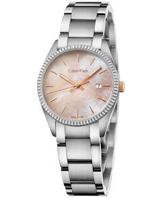 Calvin Klein Women's Swiss Alliance Stainless Steel Bracelet Watch 30mm K5R33B4H