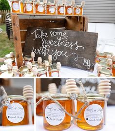 Backyard Engagement Party Details - Honey Jar Gifts - Lexi Clean Kitchen Source by lexiscleankitch Honey Favors, Honey Wedding Favors, Unique Wedding Favors, Wedding Party Favors, Bridal Shower Favors, Wedding Gifts, Our Wedding, Wedding Souvenir, Wedding Parties