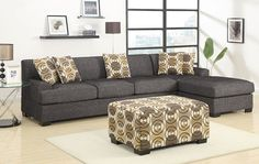 Linen Sectional Sofa F7447 Only $500! This site has really cheap really nice furniture!