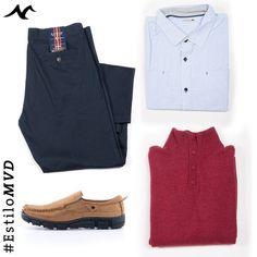 Pantalón Arrow Camisa Jean Vernier, Sweater Dakar y  Mocasines Giuliano. #EstiloMvd para ellos!
