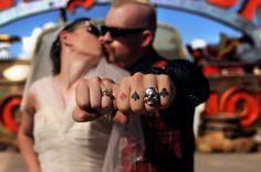 Missy & Dave getting wed in Vegas via Rock n Roll Bride