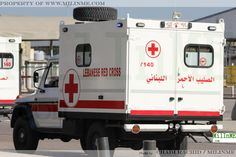 The Lebanese Red Cross Mercedes-Benz 330GD Ambulance during Independence Day, November 22, 2011.