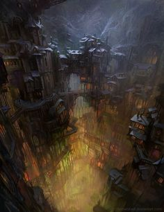 City in cave by SnowSkadi on deviantART