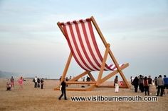 World's largest deck chair! In Bournemouth this weekend.