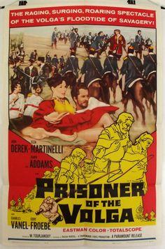 PRISONER OF THE VOLGA -JOHN DEREK / DAWN ADDAMS- ORIGINAL USA 1SHT MOVIE POSTER