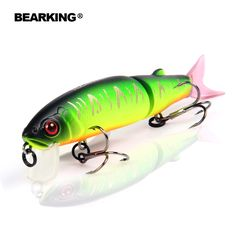 Retial quality bait  fishing lures,113mm 13.7g Bearking different colors,crank minnow popper hard bait  2016 hot model