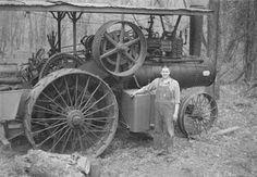historic steam tractor   Hesston Steam Engine Museum via GR2Food Archive