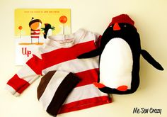 how to make the oliver jeffers up and down penguin. An easy stuffed penguin DIY, perfect for story book halloween costumes. Diy Costumes For Boys, Little Boy Costumes, Halloween Costumes, Costume Ideas, World Book Day Costumes, Book Week Costume, Shirt Tutorial, Costume Tutorial, Toys For Little Kids
