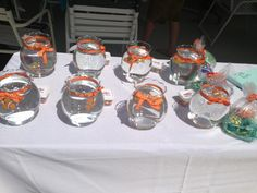 Finding Nemo Party - Fish Bowls with Nemo Favors
