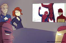 deadpool y spiderman y daredevil