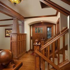 Overhang in foyer- Craftsman