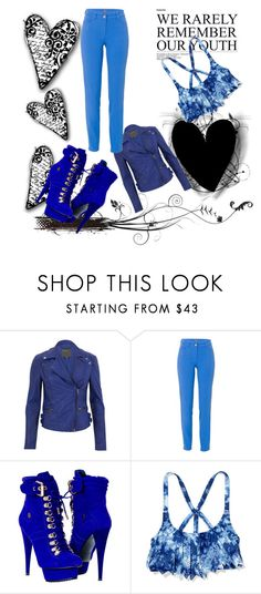blue tones by ammy-horan-98 on Polyvore featuring moda, MuuBaa, Basler and Paolo Shoes