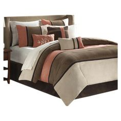 You should see this Palisades 7 Piece Comforter Set in Coral & Tan on Daily Sales!
