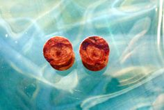 9.5mm Maple burl wood ear plugs, 00 gauge, hand turned, organic pair of plugs
