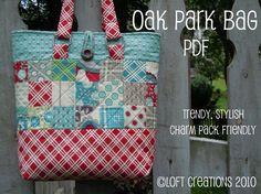 Oak Park Bag  A PDF Pattern by loftcreations on Etsy, $4.00
