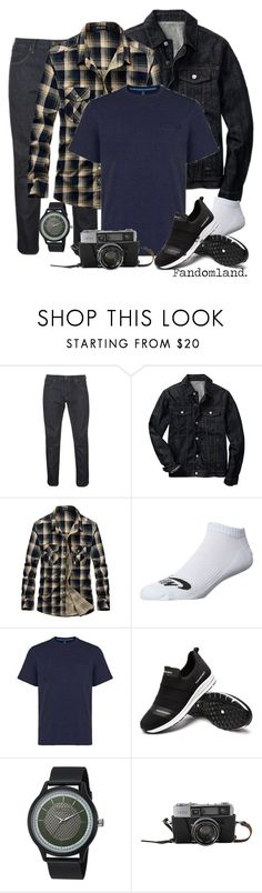 """""""Johnathan Byers   Stranger Things   Netflix Battle Group   Contest 1.0"""" by fandomland ❤ liked on Polyvore featuring Gap, NIKE, Tasc Performance, Steve Madden, men's fashion and menswear"""