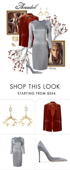 """""""Thranduil from the """"Hobbit"""""""" by le-piano-argent ❤ liked on Polyvore featuring Fenton, Ulla Johnson, Gianluca Capannolo and Gianvito Rossi"""