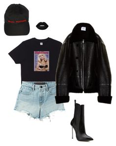"""""""sexual fantasies"""" by neua ❤ liked on Polyvore featuring HUF, Casadei, T By Alexander Wang, Vetements and Lime Crime"""