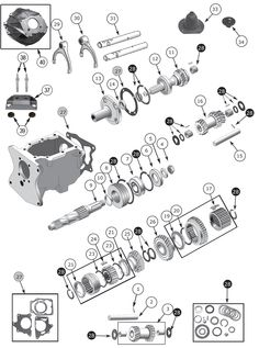 t 176 and t 177 4 speed transmission exploded view diagram. Black Bedroom Furniture Sets. Home Design Ideas