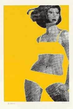 Gerald Laing 'Sandra' 1968 Great for a design project! Using positive negative space.