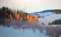 Landscape Paintings by David Lidbetter Watercolor Landscape, Abstract Landscape, Landscape Paintings, Landscapes, Painting Snow, Winter Painting, Painting Clouds, Canadian Art, Snow