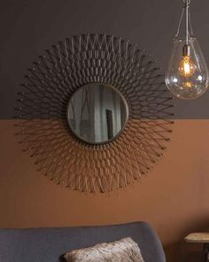 Sunray Sunburst Mirror, Zinc Metal Frame Dia:68cm | Free Delivery Wall Mirrors Metal, Hallway Mirror, Autumn 2017, Sunburst Mirror, Modern Industrial, Free Delivery, Ceiling Lights, Contemporary, Antiques