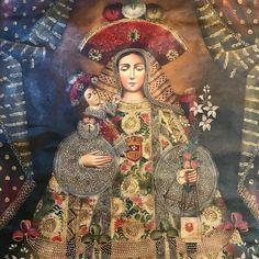"""22 Me gusta, 1 comentarios - CASA RUEDA Interiors &Antiques (@casa.rueda) en Instagram: """"""""Virgen de la Merced """" Detalle de la gran pintura al óleo y acrílico en estilo Barroco colonial de…"""""""