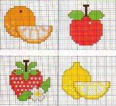 Fruta en punto de cruz - Buscar con Google