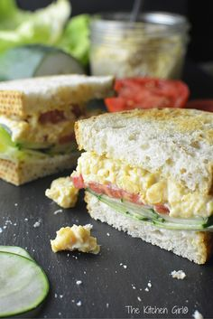 Chickpea Smash - Dairy-free, gluten-free, Eggless Egg Salad for sandwiches, wraps, and crackers. 5-minute assembly, chickpeas make it rich in fiber and protein. Uses vegan mayo! thekitchengirl.com
