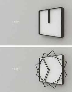 FRAME clock by Meyer Objects - design Nazar Sigaher