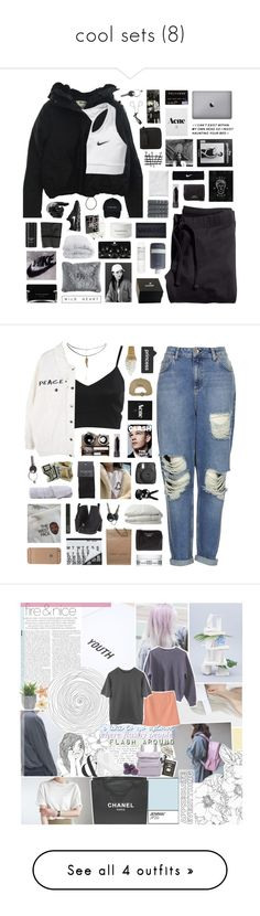 """""""cool sets (8)"""" by brdfrdzen ❤ liked on Polyvore featuring H&M, Acne Studios, NIKE, Soft-Tex, Pier 1 Imports, Chanel, Byredo, Christy, Tom Ford and Korres"""