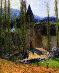 Church at Labastide du Vert, Late Afternoon - Henri Martin - The Athenaeum