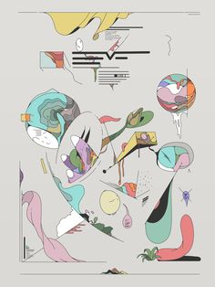 Imaginary infographics art by Ori Toor