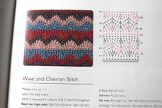 little woollie: Mixed stitch stripey blanket crochet-a-long - wave and chevron stitch Striped Crochet Blanket, Crochet Ripple, Manta Crochet, Crochet Afghans, Knit Or Crochet, Crochet Motif, Crochet Needles, Crochet Edging Patterns, Crochet Diagram