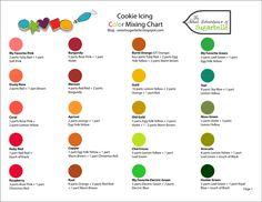 Printable icing color chart