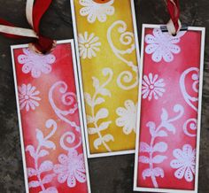 handmade bookmarks designs | Here is the front of the bookmarks, I have used my most trusted and ...