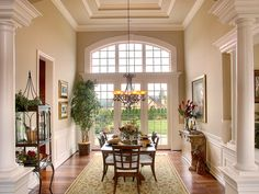 Aldarra lot 92 dining room with coffered ceiling