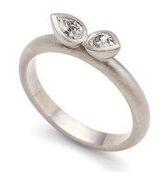 Damson Jewellery - beautiful 18ct #whitegold #lotus ring #wedding ring #engagementring #bridal #handmadediamondring