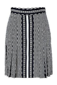 DKNY Nocturne Silk Pleated Skirt  —  DKNY's soft silk skirt is a chic way to dress up for work