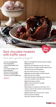 is a food group, right? Serve this decadent at your Sunday lunch affair. Fun Desserts, Delicious Desserts, Yummy Food, Baking Recipes, Cake Recipes, Dessert Recipes, Unique Recipes, Sweet Recipes, Truffle Sauce