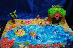 beach birthday cake - Google Search 13 Birthday Cake, 13th Birthday, Google Search, Beach, Desserts, Food, Tailgate Desserts, 13 Birthday, Deserts