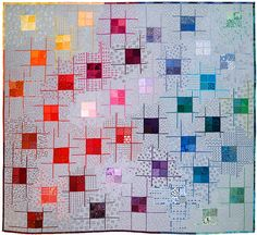 """""""Gridlocked"""" by Sheena Norquay.  Contemporary Quilt Art (UK)"""