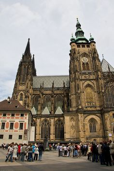 St. Vitus Cathedral in Prague. Prague is the capital and largest city of the Czech Republic and fourteenth largest city in European Union. by Adam R. Paul, via Flickr