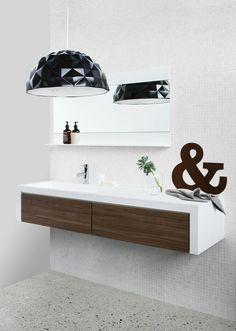 meuble salle de bain bois sous lavabo en bois lampe de plafond