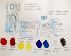 Acrylic Painting Tips and Tricks for Beginners- How to Select Art Supplies! - Art Love Light