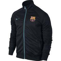 Nike FC Barcelona Core Trainer Jacket Mens 689943-010 Black Blue Jacket Size 2XL