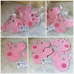 Efeitos à Mão: Máscaras - Peppa Pig e George