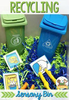 Earth Day Recycling Sensory Bin for Preschool - Pre-K Pages