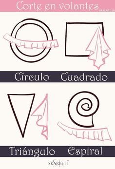 Aprende a cortar volantes para tus proyectos de costura / Little post (SKARLETT) - Pat Tutorial and Ideas Sewing Basics, Sewing Hacks, Sewing Tutorials, Sewing Crafts, Sewing Projects, Pattern Drafting Tutorials, Sewing Lessons, Sewing Ideas, Techniques Couture