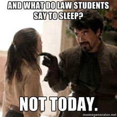 Made me laugh, but I haven't sacrificed sleep for school yet. Could be that hour and 15 minute commute to school...don't really want to risk anyone's life.